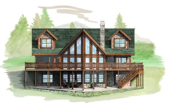 Snowflake Lodge - Natural Element Homes